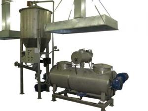 Оборудование для смешивания и транскортировки сухих смесей.    Линия смешивания сухих пищевых добавок